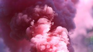 Preview wallpaper smoke, pink, shroud