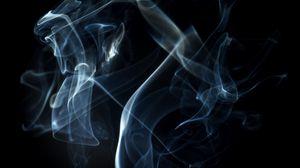 Preview wallpaper smoke, shroud, dark background, lines