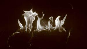 Preview wallpaper smoke, shroud, monochrome