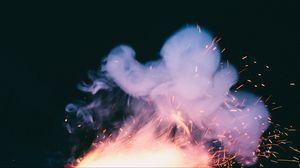 Preview wallpaper smoke, sparks, dark background