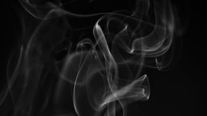Preview wallpaper smoke, white, wriggling, black background, abstract