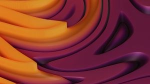 Preview wallpaper smooth, winding, relief, volume, 3d