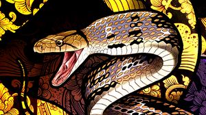 Preview wallpaper snake, patterns, scales, art