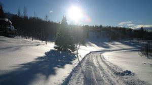 Preview wallpaper snow, road, winter
