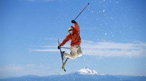 Preview wallpaper snowboarding, jump, snow