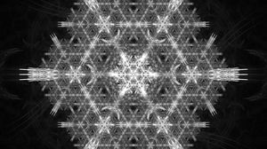 Preview wallpaper snowflake, pattern, fractal, structure, tangled