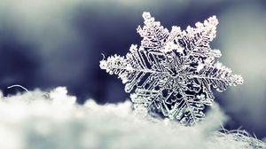 Preview wallpaper snowflake, snow, shape, pattern