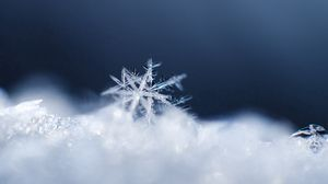 Preview wallpaper snowflake, snow, surface