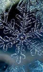 Preview wallpaper snowflake, winter, macro, ice