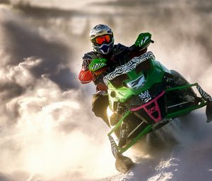 Preview wallpaper snowmobile, sports, racing, snow, winter