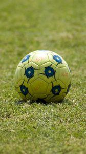 Preview wallpaper soccer ball, ball, football, grass