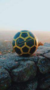 Preview wallpaper soccer ball, ball, soccer, sport, sports, light