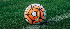 Preview wallpaper soccer ball, football, lawn, grass