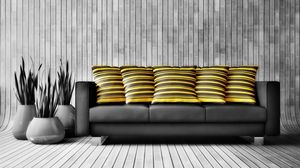 Preview wallpaper sofa, furniture, walls, comfort