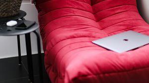 Preview wallpaper sofa, laptop, room, interior