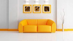 Preview wallpaper sofa, painting, vase, lamp