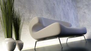 Preview wallpaper sofa, white, stylish, vase
