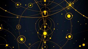 Preview wallpaper solar system, circles, lines, dotted lines