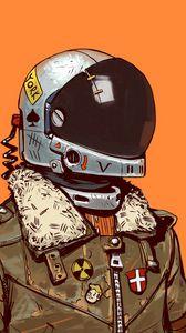 Preview wallpaper soldier, helmet, art, digital art, sci-fi