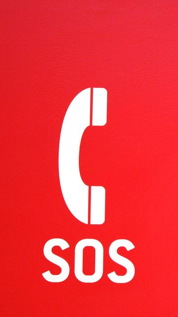 360x640 Wallpaper sos, word, alarm, call, red