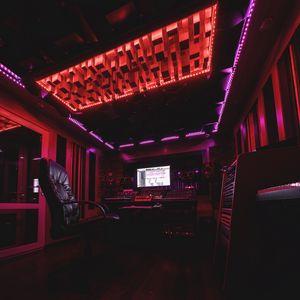 Preview wallpaper sound recording, studio, music, neon