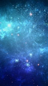 Preview wallpaper space, background, blue, dots