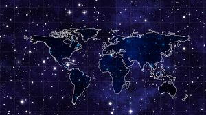 Preview wallpaper space, continents, map