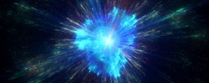 Preview wallpaper space explosion, flare, glare, light, rays