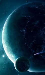 Preview wallpaper space, planet, light