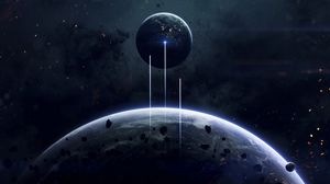 Preview wallpaper space, planet, open space, universe