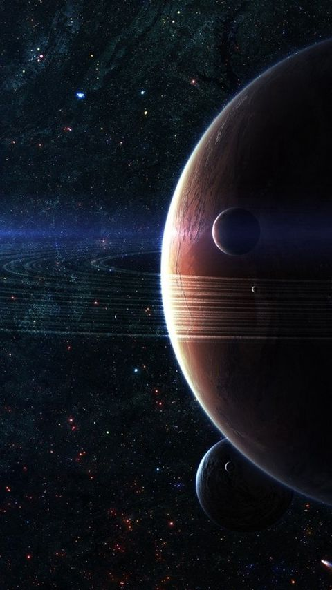 480x854 Wallpaper space, planet, sky