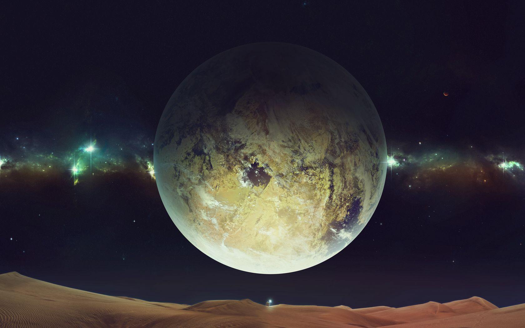 1680x1050 Wallpaper space, planet, sky