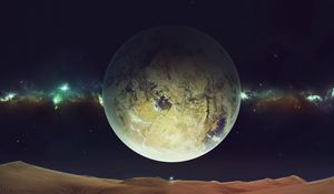 Preview wallpaper space, planet, sky