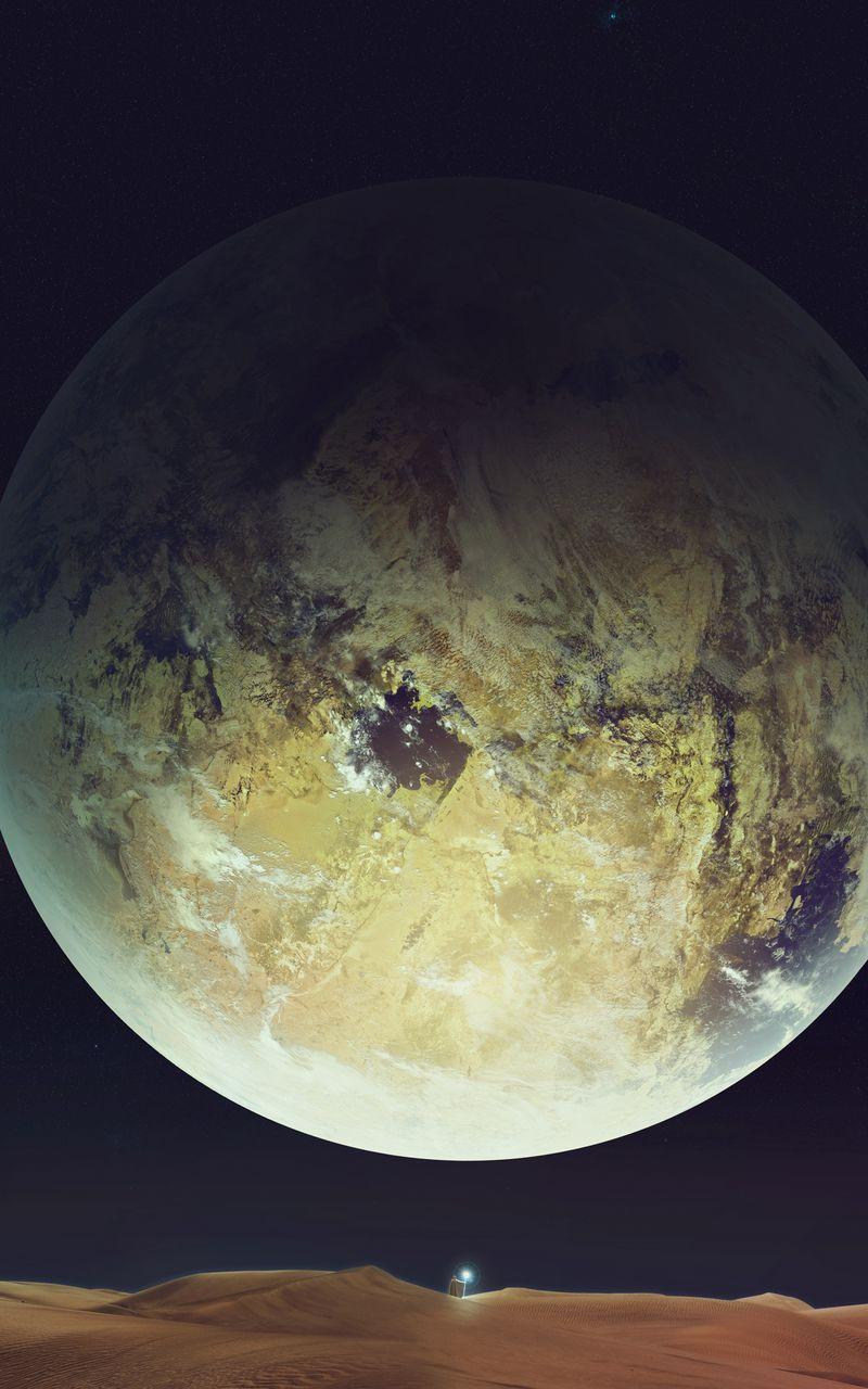 800x1280 Wallpaper space, planet, sky