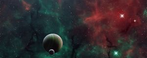 Preview wallpaper space, planets, universe, galaxy, outer space, art