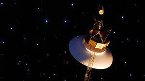 Preview wallpaper space, satellite, orbit, stars, art
