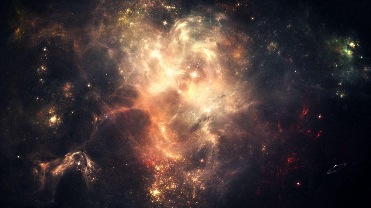 1280x720 Wallpaper space, stars, sky, dark