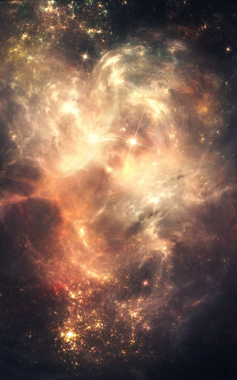 800x1280 Wallpaper space, stars, sky, dark