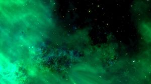 Preview wallpaper space, universe, stars galaxy, radiance, green