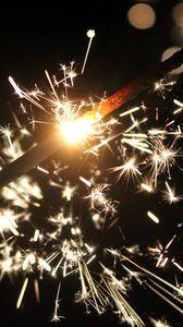 Preview wallpaper sparkler, holiday, sparkle