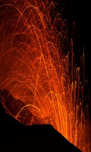 Preview wallpaper sparks, eruption, glow