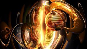 Preview wallpaper sphere, ball, dark, patterns