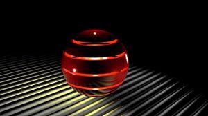 Preview wallpaper sphere, light, 3d, ball