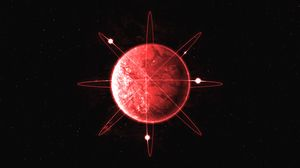 Preview wallpaper sphere, lines, axises, red, abstraction