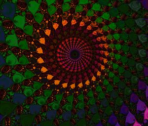 Preview wallpaper spiral, fractal, colorful, abstraction