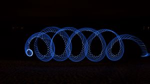 Preview wallpaper spiral, lightpainting, blue