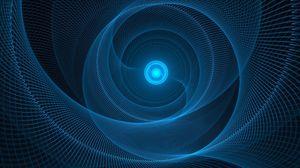 Preview wallpaper spiral, mesh, rotation, blue