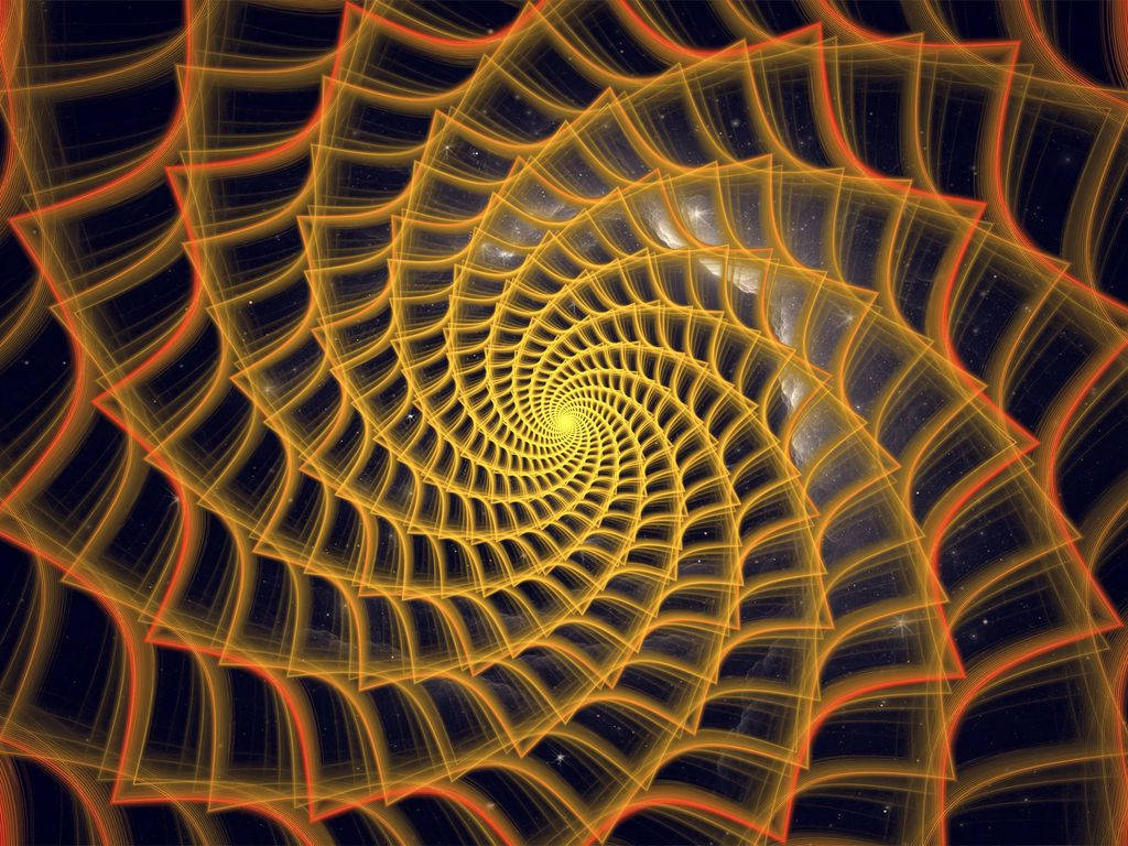 1024x768 Wallpaper spiral, twisted, tangled, fractal, abstraction