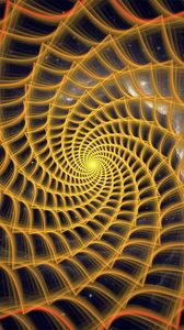 Preview wallpaper spiral, twisted, tangled, fractal, abstraction