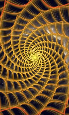 240x400 Wallpaper spiral, twisted, tangled, fractal, abstraction